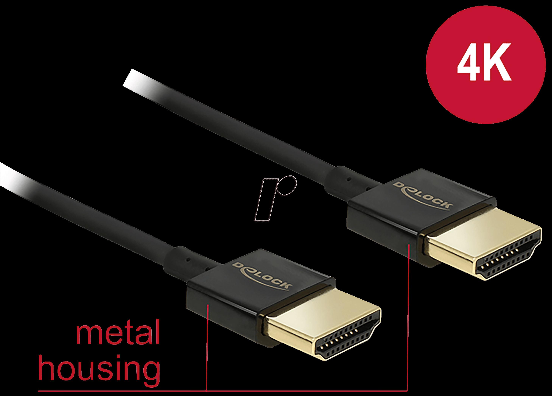 DELOCK 85117: Cable HDMI-A male > A male 0.25 at reichelt elektronik