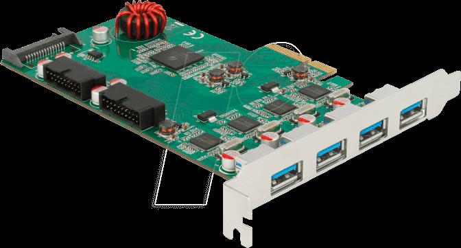 USB 3.0 PCI-E Controller Card 2 External Port w// Internal 19 Pin Connection