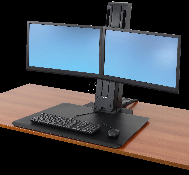 Workfit Sr Dual Monitor Sit Stand Desktop Ergotron 33 407