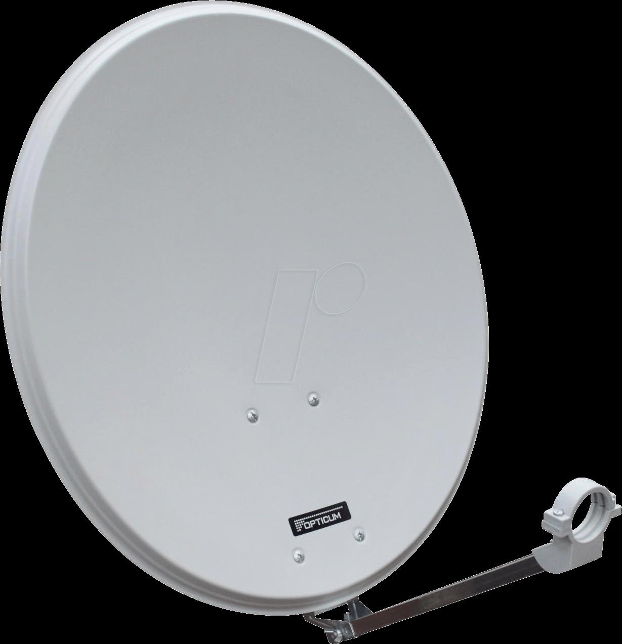 OPTICUM 9124 - Steel satellite dish, light grey, single LNB