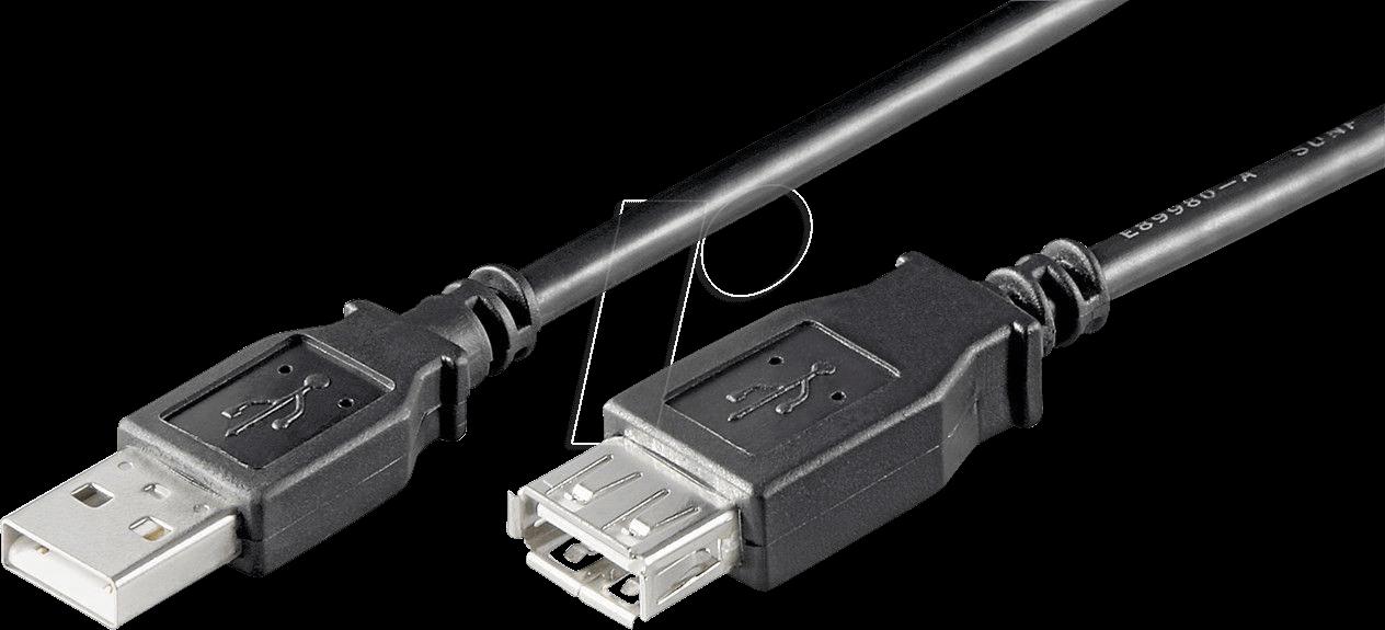 GOOBAY 68622 - USB 2.0 Hi-Speed Verlängerungskabel 0,3 m schwarz