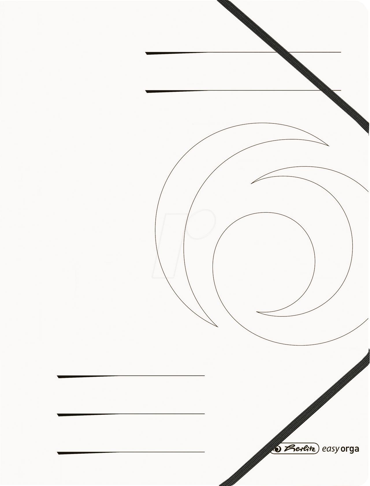 Herlitz 11159647 Folder With Elasticated Corner Straps A4 White Pack Of Five At Reichelt Elektronik