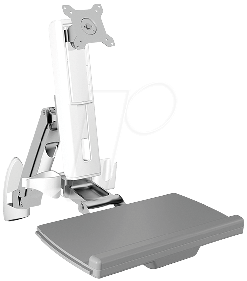 ICY IB-MS600-W - Wandhalterung für einen Monitor mit Tastatur- und Mausablage