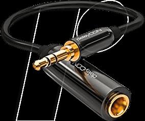 MK-MK1159 - Audio Kabel, 3,5 mm Klinkenstecker auf 6,3 mm Kupplung, 0,2 m