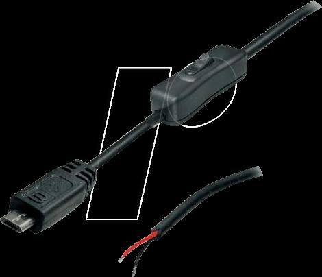 Omtyckta MUSB 10080116: Micro-USB Kabel Stecker mit Schalter schwarz bei FC-25