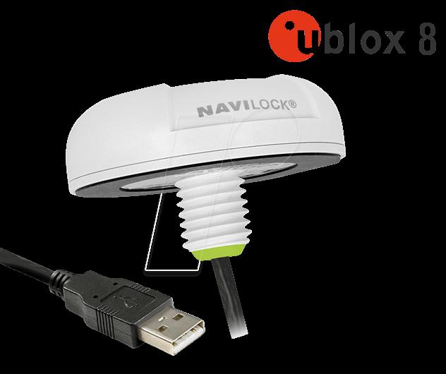 NAVILOCK 62780 - NL-82022MU USB 2 0 Multi GNSS UDR Receiver u-blox NEO-M8U  4 5 m