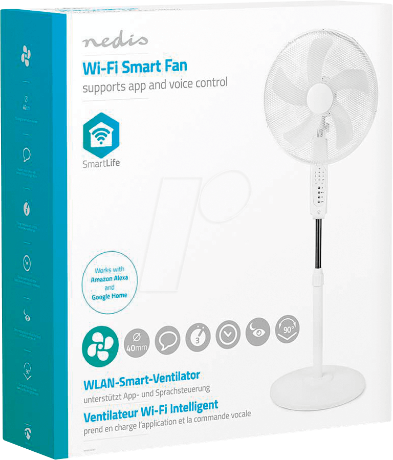 N WIFIFN10CWT - WiFi Smart Fan, standing, 16