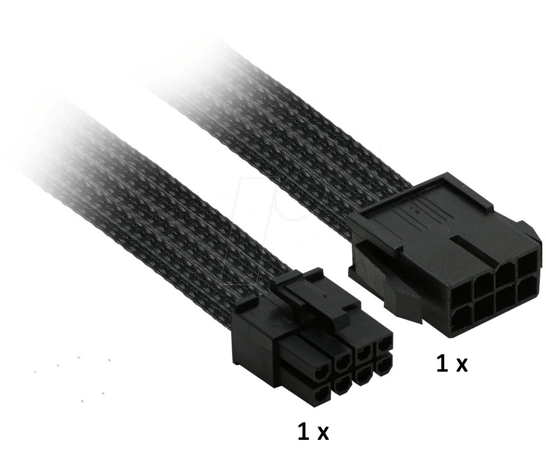 NXN NX8PE3E - 8er PCI-E Verlängerung, 30 cm, Single, schwarz