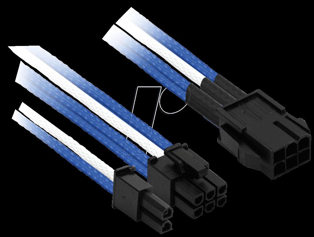 NXN NXP683EBW - 6- auf 6+2-Pin, 30 cm, blau/weiß