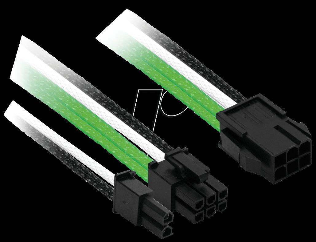 NXN NXP683EGWS - 6- auf 6+2-Pin, 30 cm, grün/weiß/schwarz
