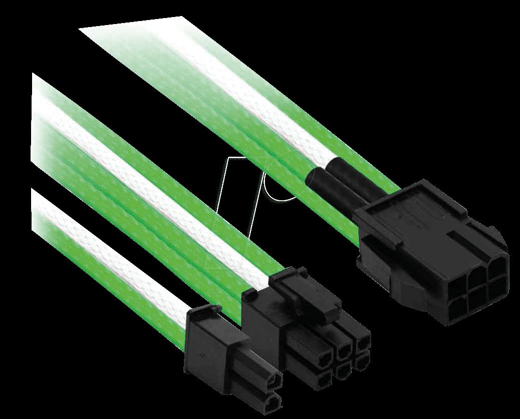 NXN NXP683EGW - 6- auf 6+2-Pin, 30 cm, grün/weiß