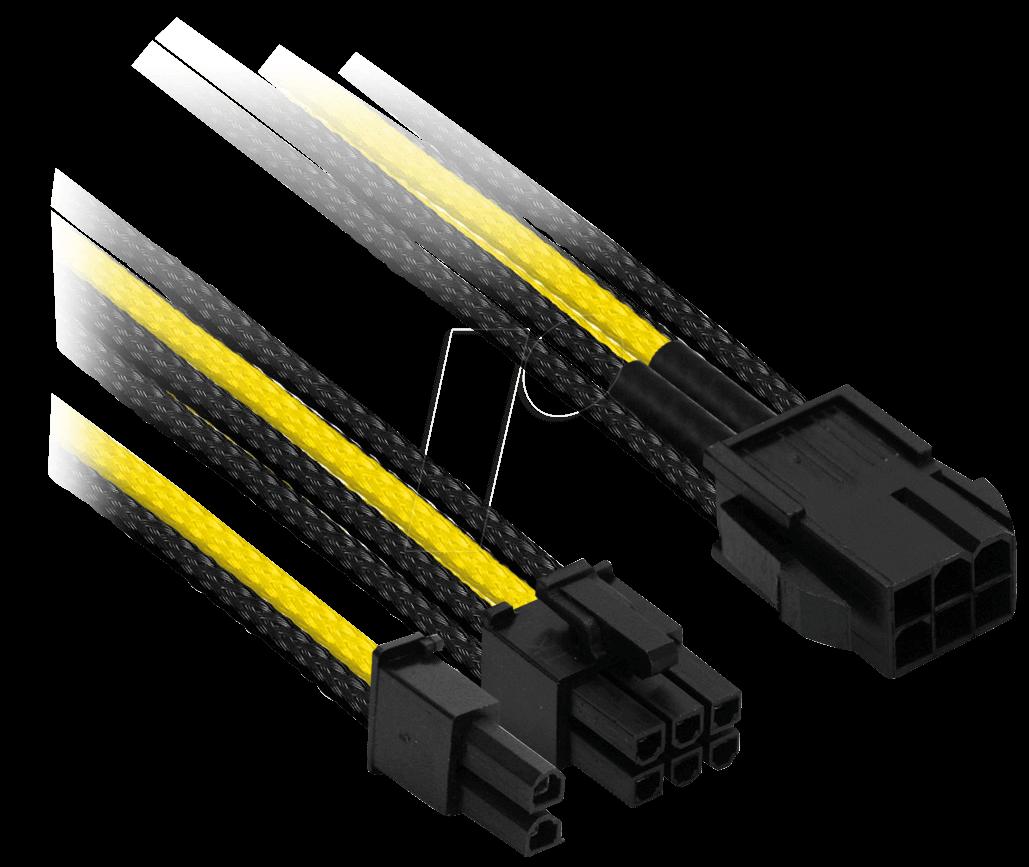 NXN NXP683ESG - 6- auf 6+2-Pin, 30 cm, schwarz/gelb