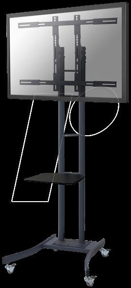 PLASMA-M2000E - Flachbildschirm Bodenständer/Rollwagen