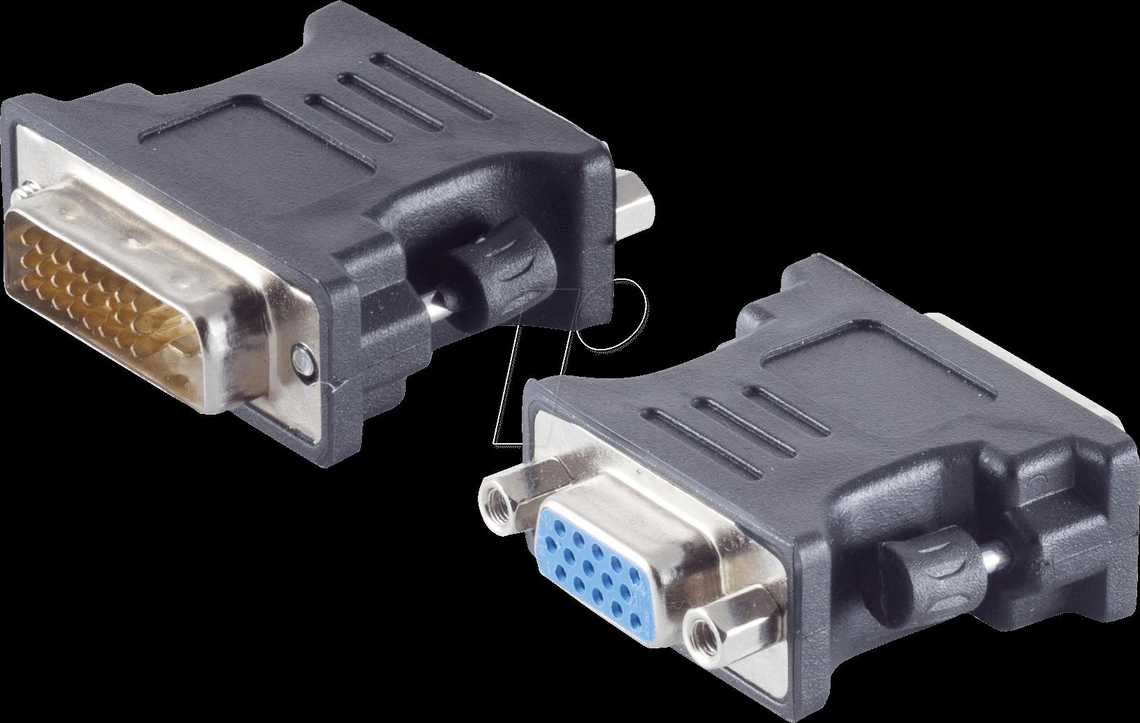 Shvp Bs77416 2 Adapter Dvi D Plug 24 1 Dual Link Vga Bush At Reichelt Elektronik