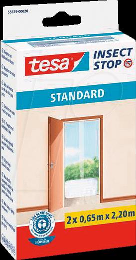 TESA 55679 AN - Fliegengitter Insect Stop Standard, für Türen, anthrazit