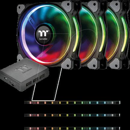TT 74800 - Thermaltake case fan Riing Plus 12 3x fan, 3x Lumi