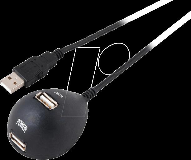 USB DOCKING STAT - USB 2.0 Kabel, A Stecker auf A Buchse, 1,5 m