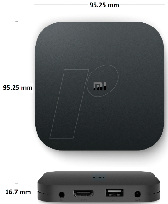 XIA 602200 - Xiaomi Mi Box S media player, Android 8 1, 8 GB