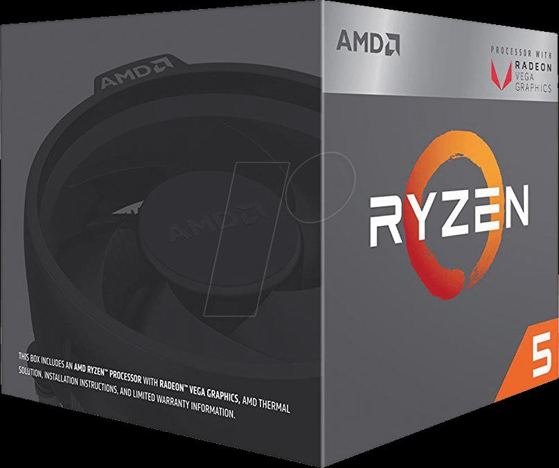 YD2400C5FBBOX - AMD AM4 Ryzen 5 2400G, 4x 3 60 GHz, boxed