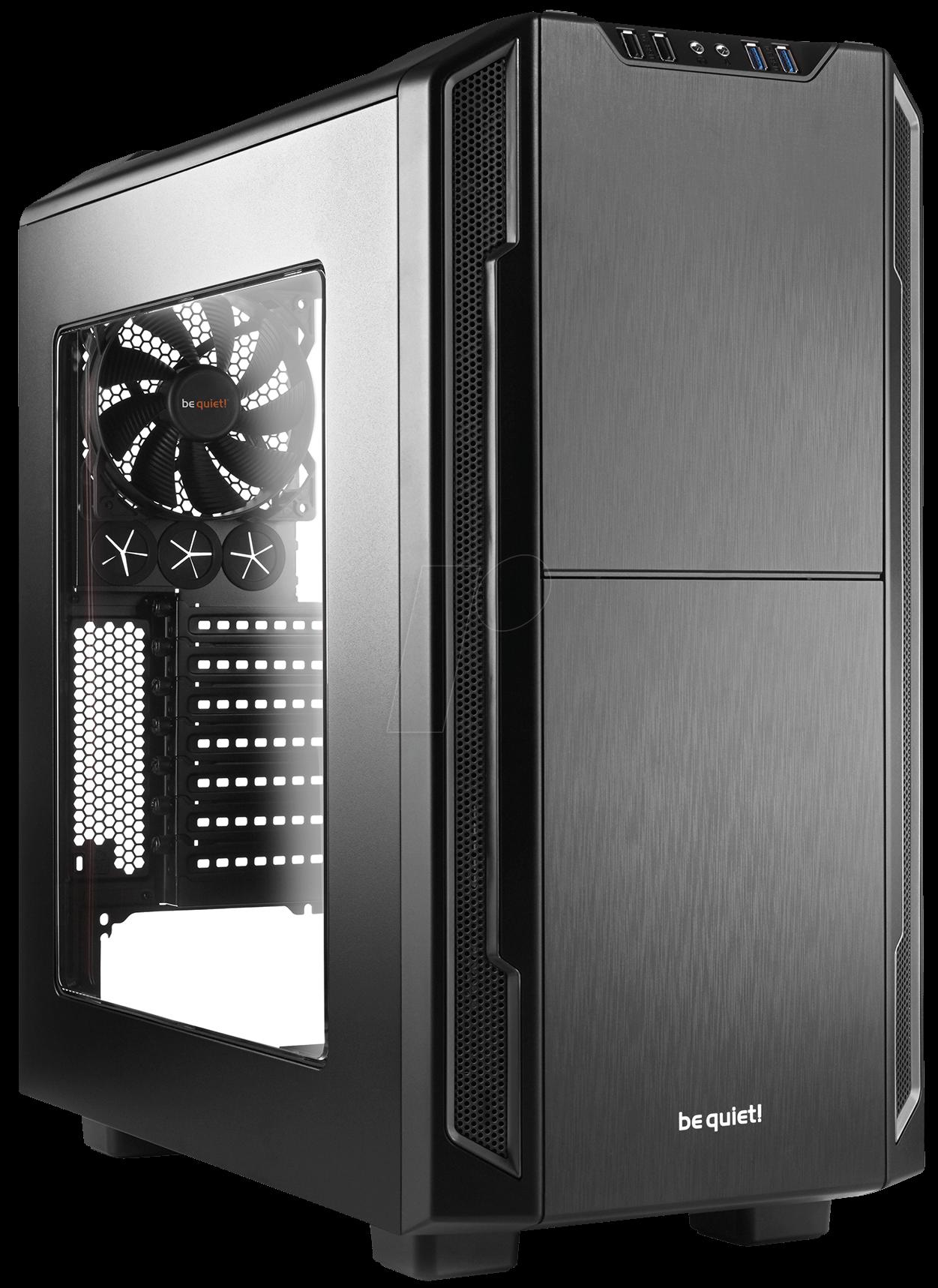 Корпус ATX BE QUIET Silent Base 600 Без БП чёрный серебристый