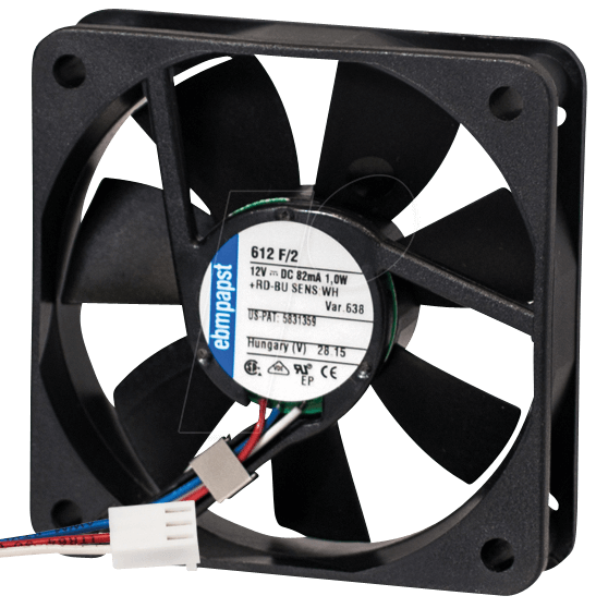 Pcl 612f 2 Papst Replacement Fan 60x60x15 At Reichelt Elektronik