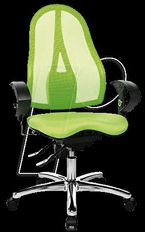 tst st19ug05 topstar b rostuhl sitness 15 apfelgr n bei reichelt elektronik. Black Bedroom Furniture Sets. Home Design Ideas