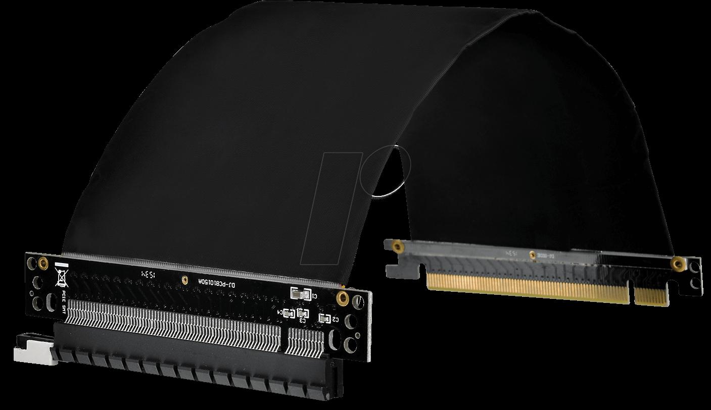 TT RISER PCIEX16: flex PCI-Express 3.0 x16 Riser Card at reichelt ...