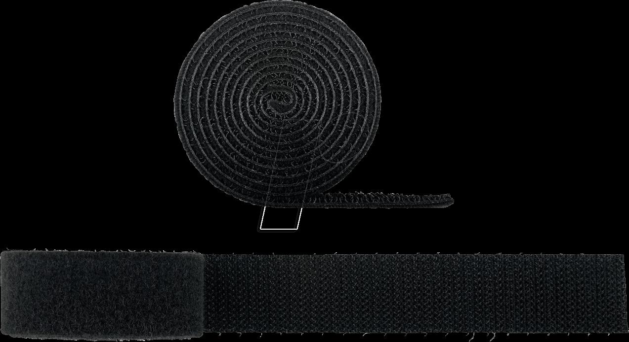 GOOBAY 70360 - Kabel Management Klettverschluss-Rolle (1m, kürzbar)