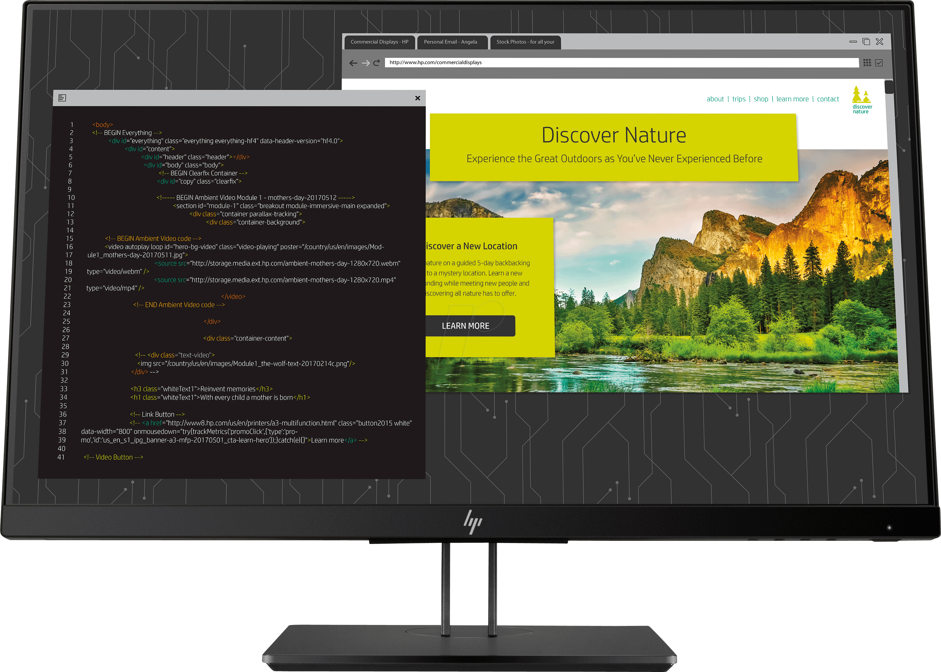 9cm Monitor, 9p, with Pivot, EEC A
