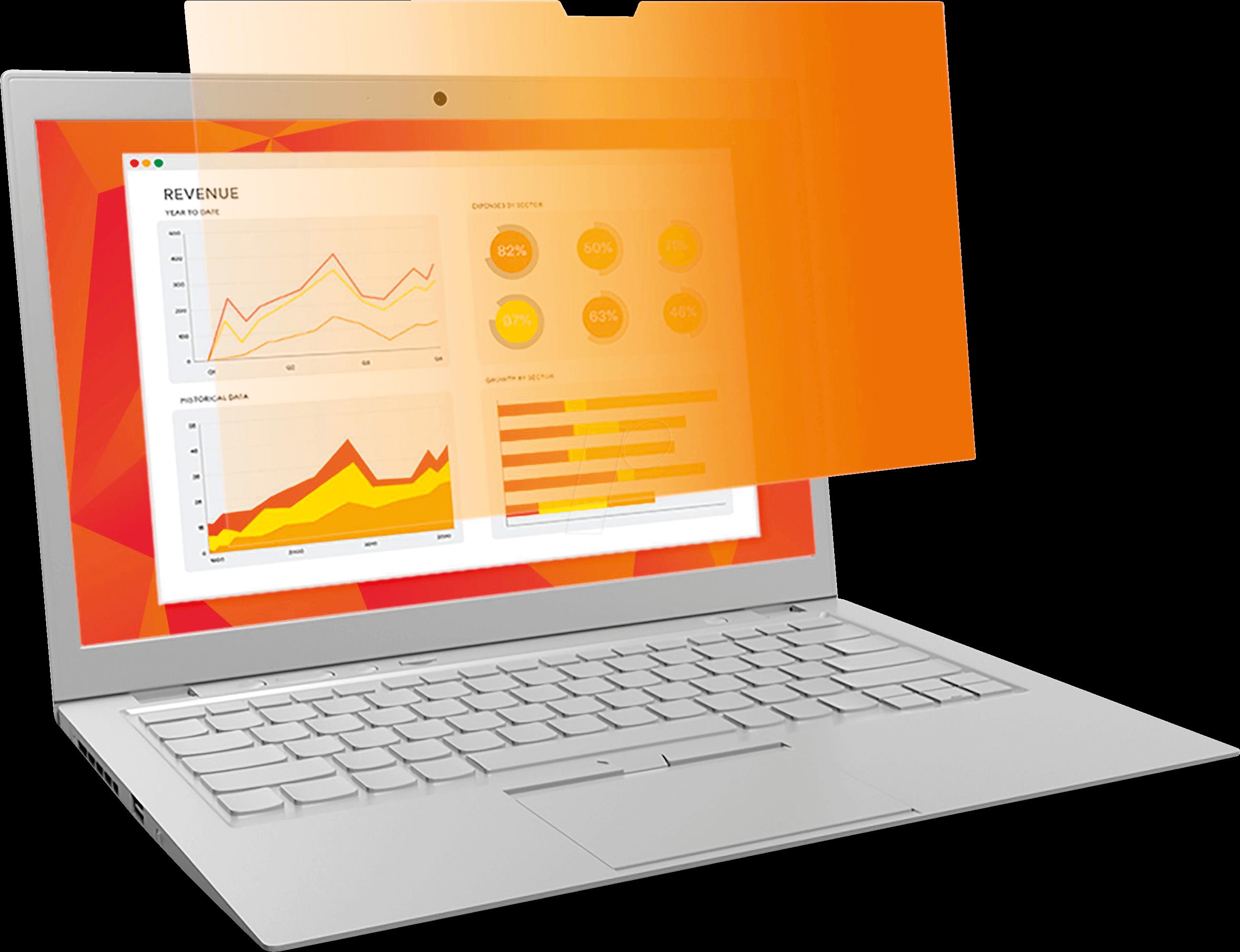 3M GF125W9E - Blickschutzfilter, 12,5 Laptop, 16:9, gold