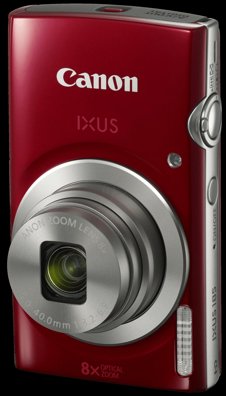 IXUS185RT - Digitalkamera, 20MP, 16-fach Zoom, rot