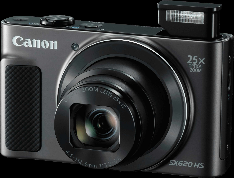 Digital Camera 20 MP 25x Zoom Black CANON 1072C002