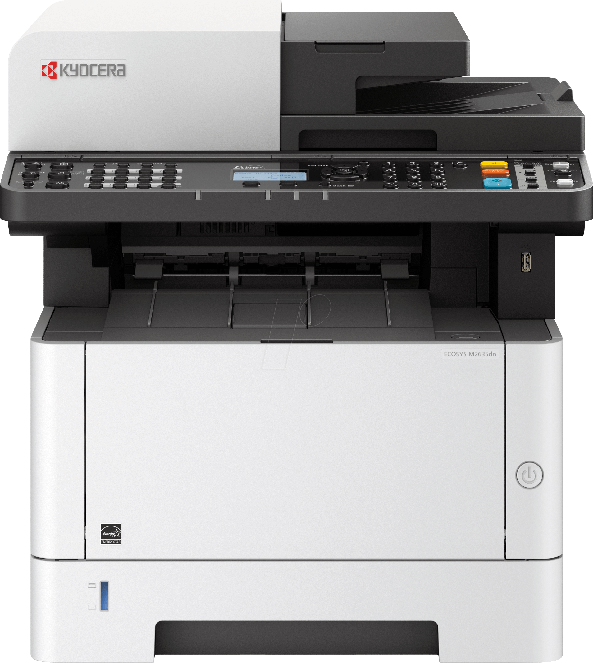 Kyocera ECOSYS M2635DN Laserdrucker, Multifunktion, mono, LAN, 35 S min, inkl. UHG