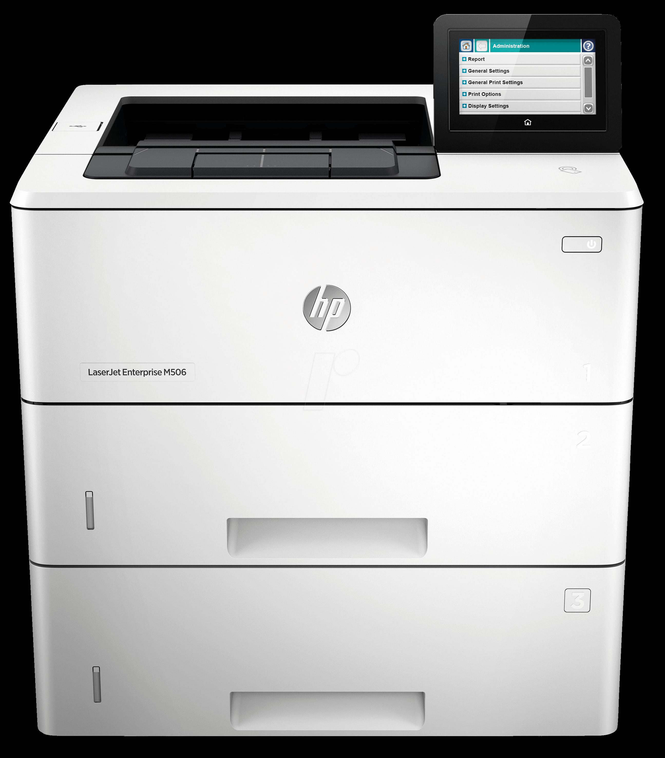 HP-LJE M506X - Laserdrucker, mono, LAN, 43S/min...
