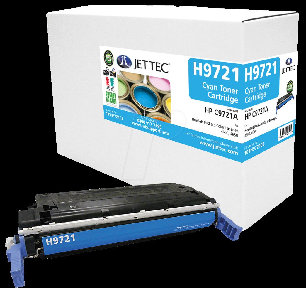 JET 101H972102 - Toner - HP - cyan - C9721A - rebuilt