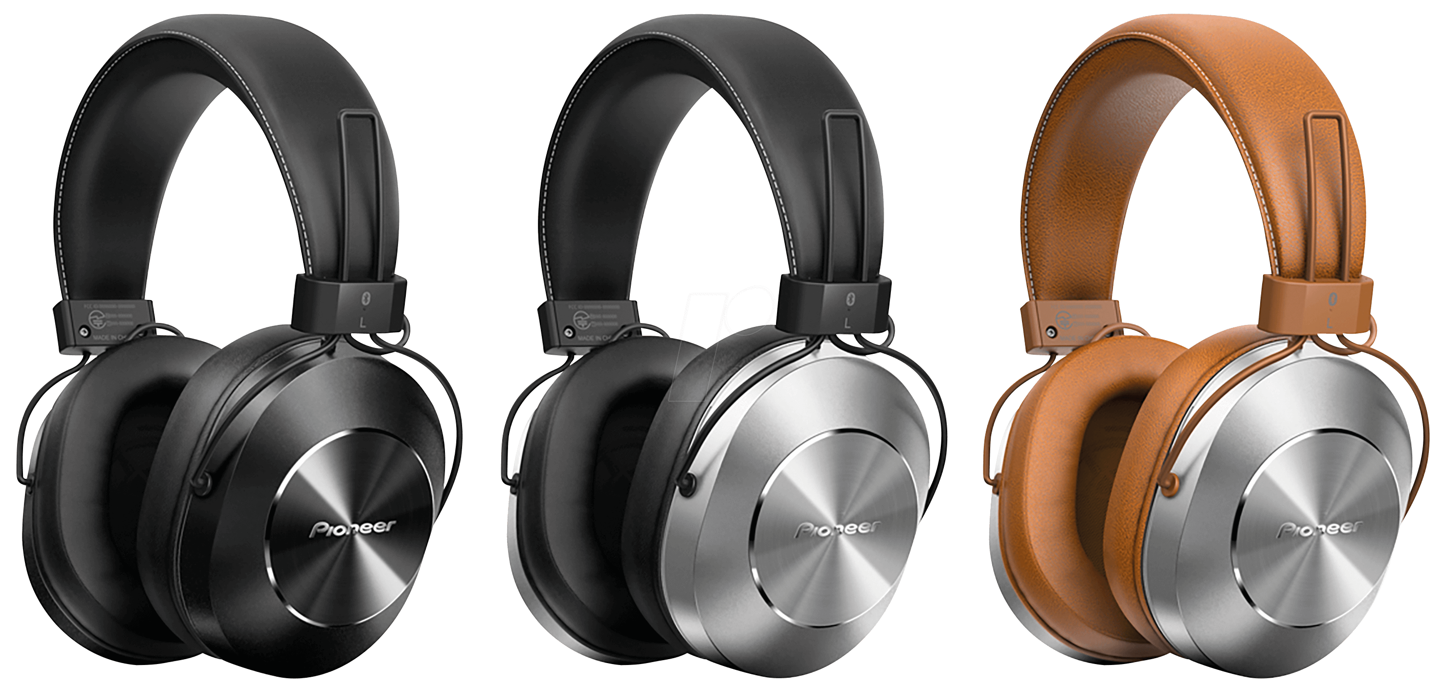 pioneer headphones. hi-res audio headphones, over-ear, bluetooth, silver pioneer se- pioneer headphones
