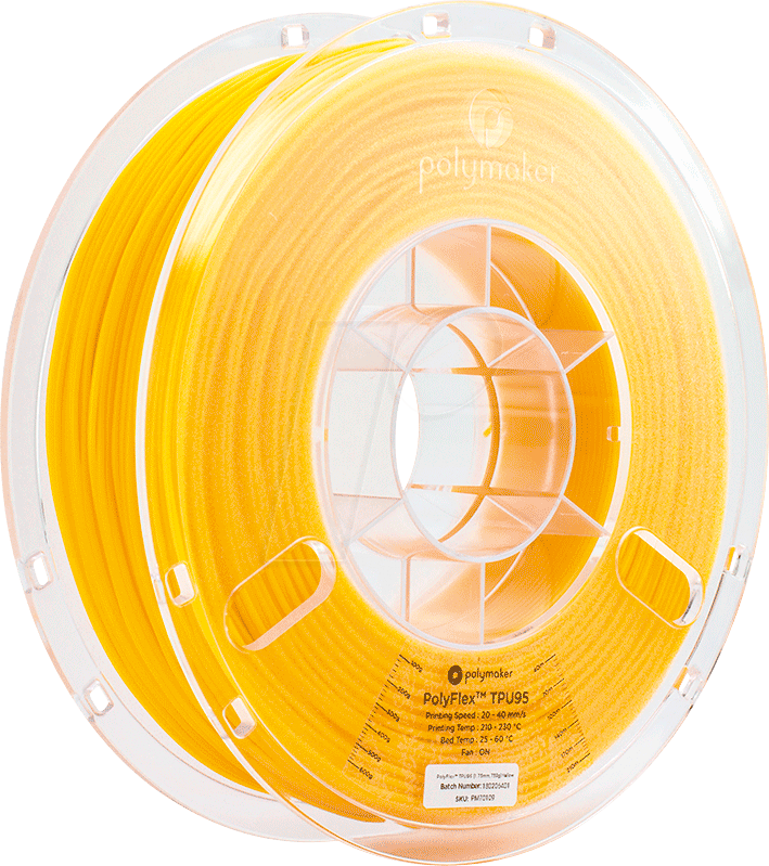 POLYMAKER 70109 - Filament - PolyFlex TPU95 - Yellow - 750 g