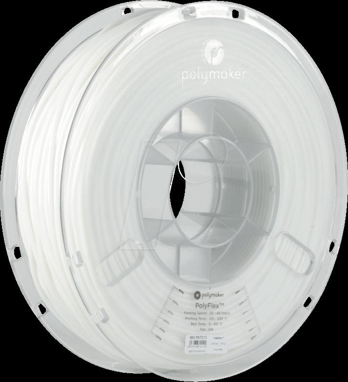 POLYMAKER 70110 - Filament - PolyFlex TPU95 - White - 750 g