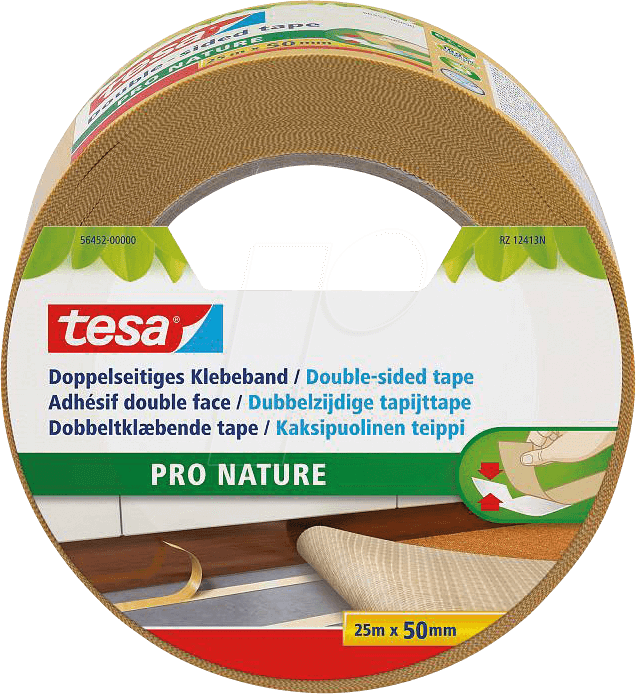 tesa 56452 double sided adhesive tape eco fixation 25 m at reichelt elektronik. Black Bedroom Furniture Sets. Home Design Ideas