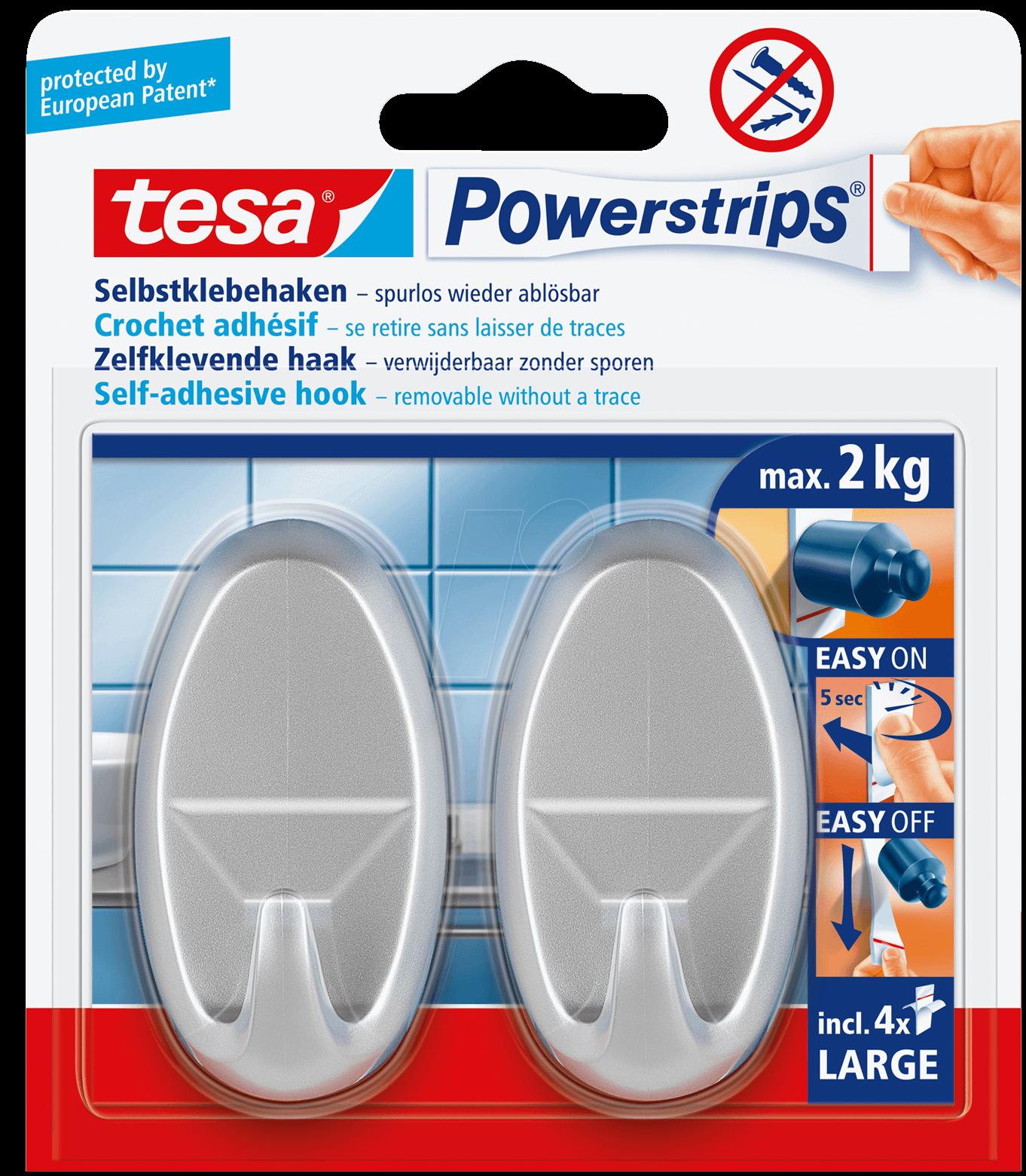 TESA 58063 - tesa® Powerstrips® Haken Large Ova...