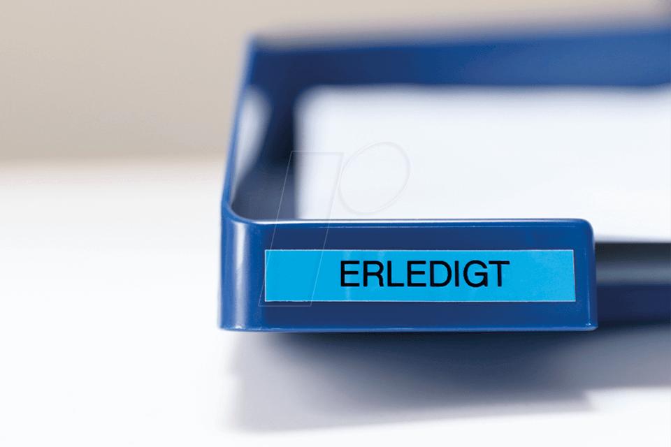 BROTHER P-touch Schriftband TZe521 TZe-521 schwarz blau