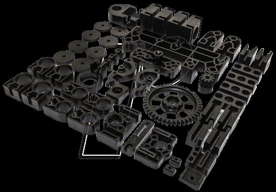 vm mp8200set 3d druck k8200 schwarze bauteile plastik. Black Bedroom Furniture Sets. Home Design Ideas