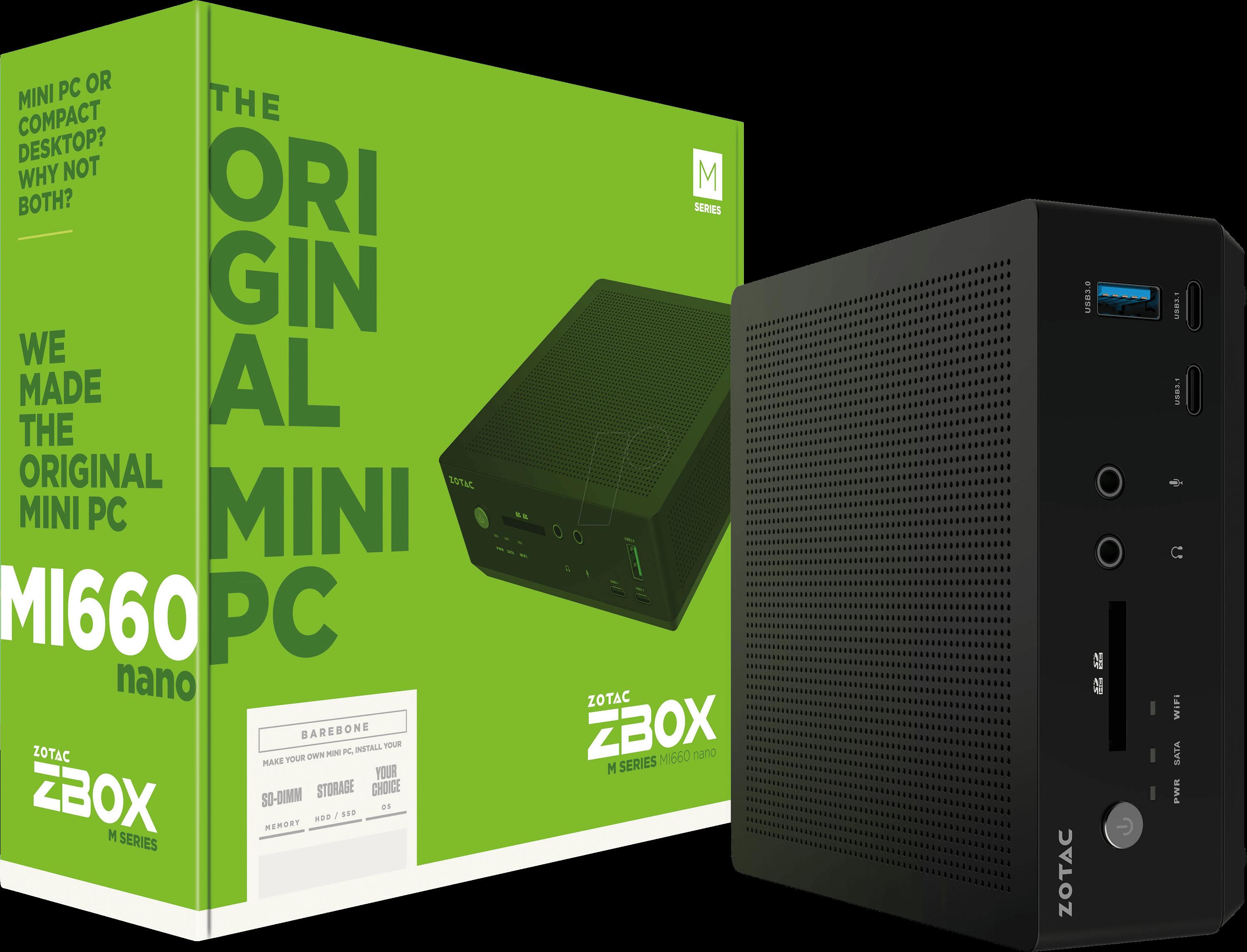 Zotac ZBOX-MI660NANO Barebone PC, ZBOX MI660 nano