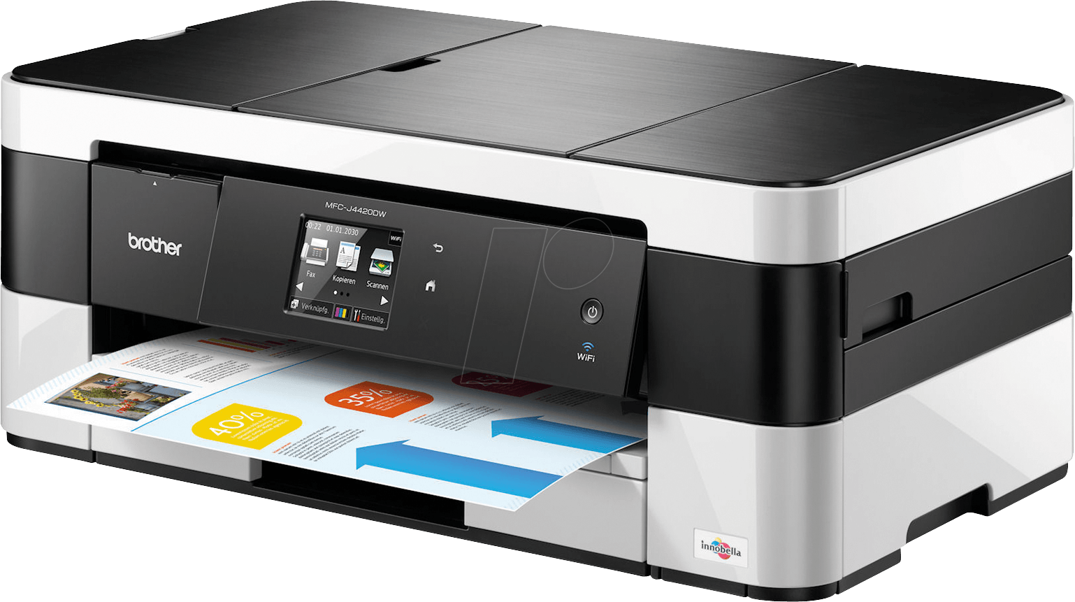 BRO MFCJ4420DW All In One Printer With Fax Wi Fi Duplex