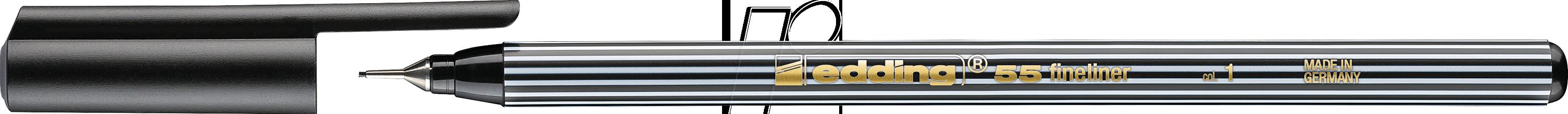 EDDING 55SW - Fineliner, 0,30 mm, schwarz