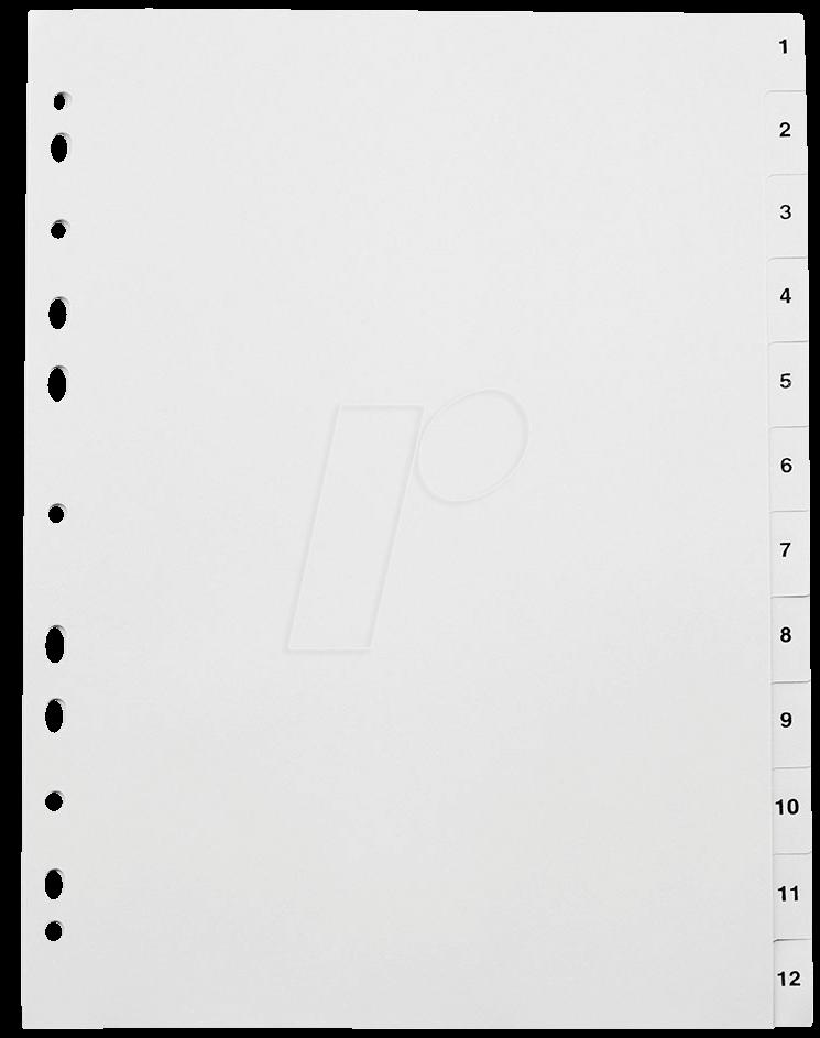 KREG A4 1-12 - Kunststoffregister A4 (1-12)
