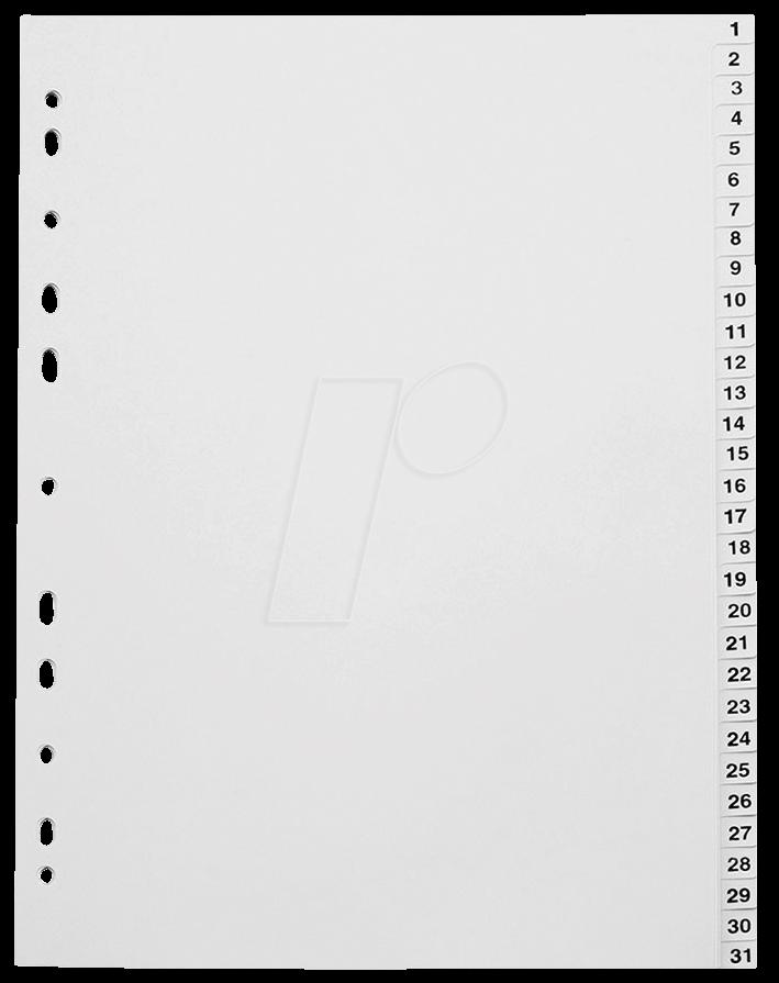 KREG A4 1-31 - Kunststoffregister A4 (1-31)