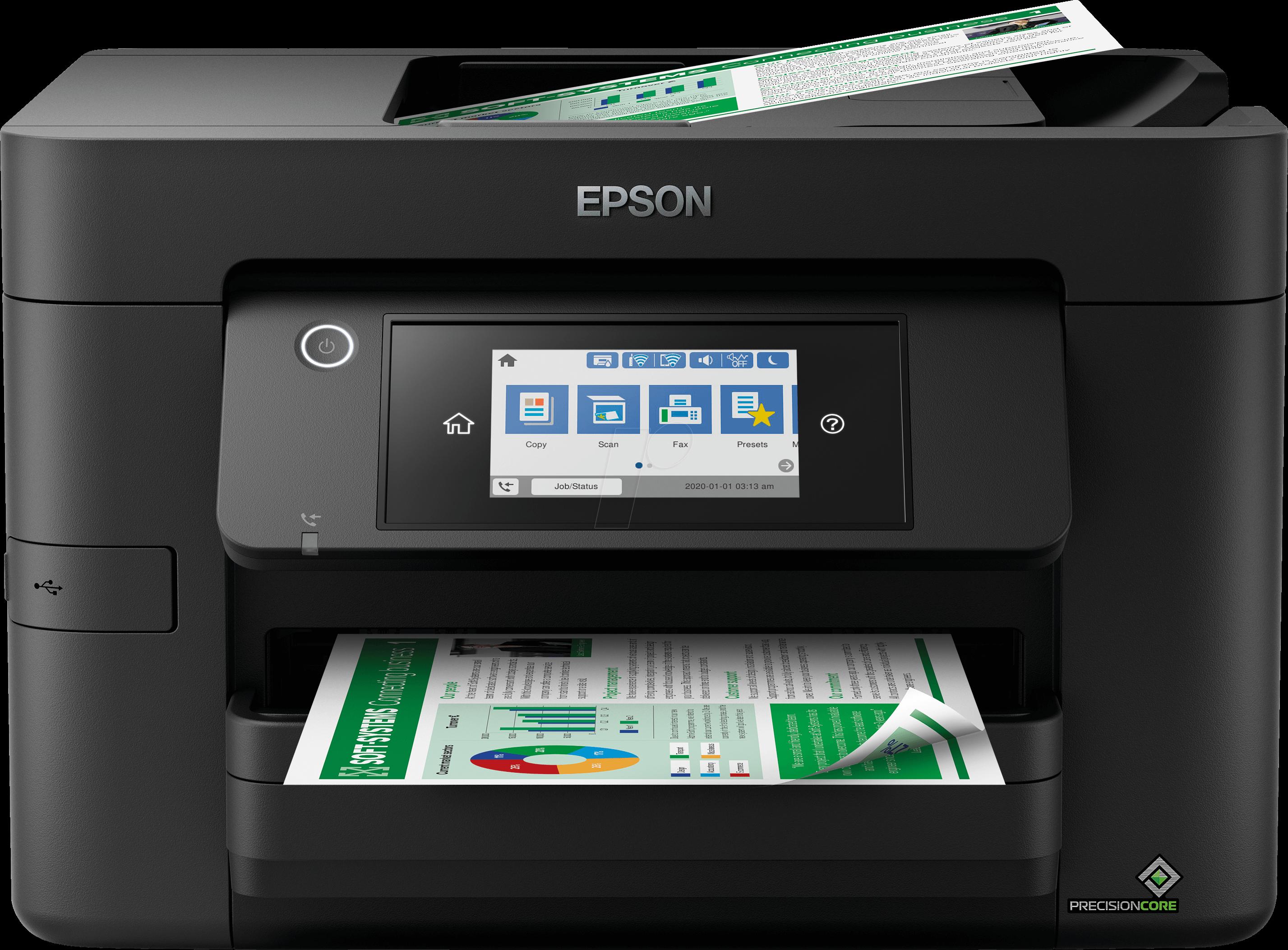 EPSON WF4820DWF Drucker, Tinte, 4 in 1, WLAN, LAN, Duplex, ink. UHG