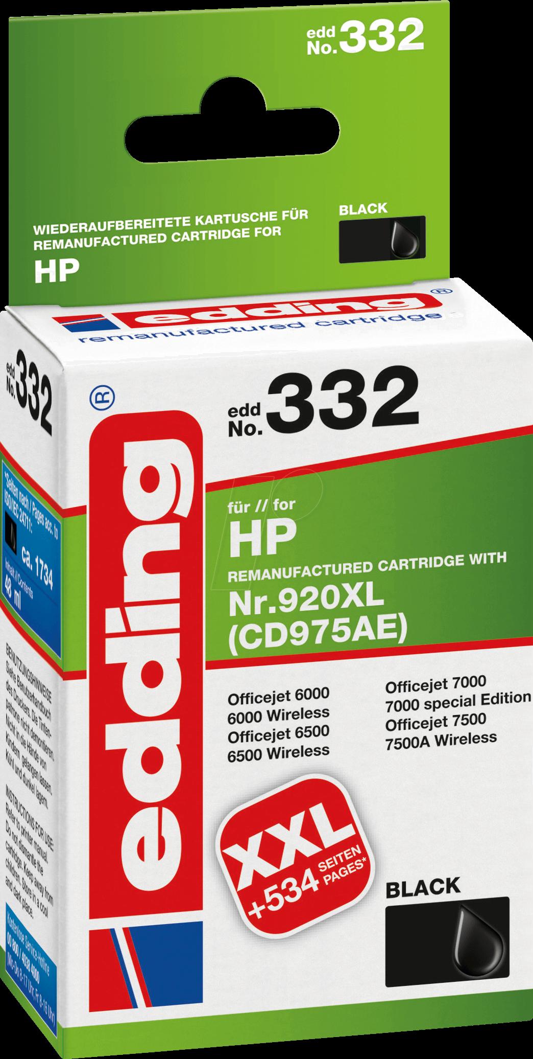 EDDING EDD-332 - Tinte - HP - schwarz - HP920XL...