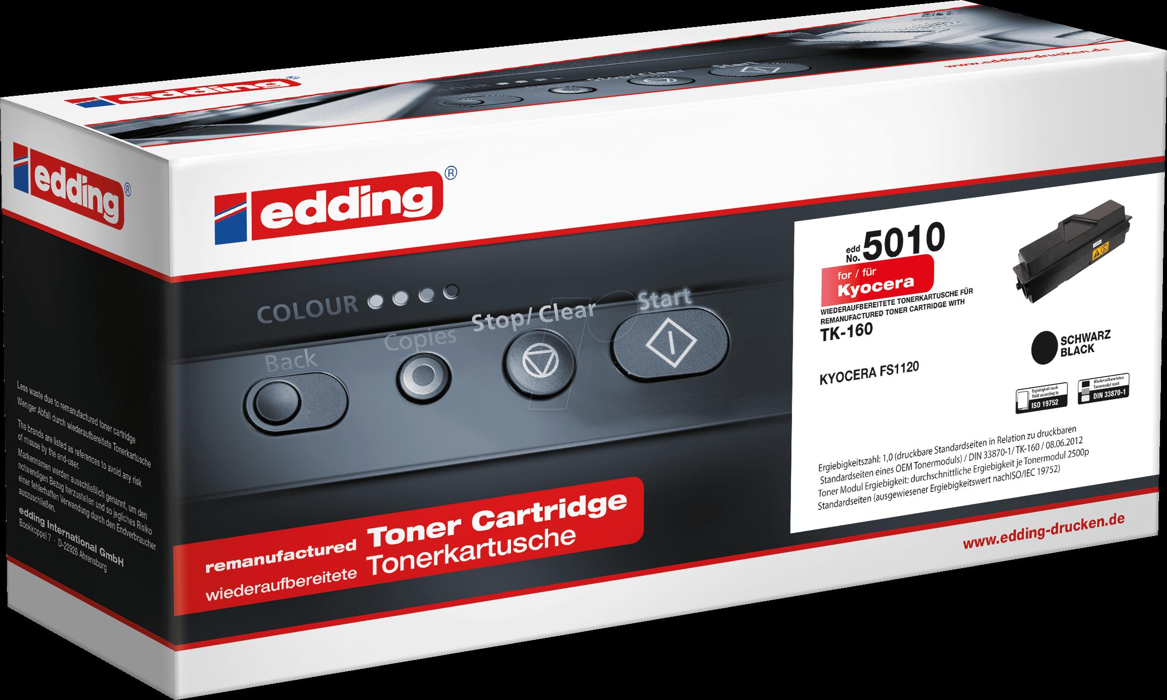 EDDING EDD-5010 - Toner - Kyocera - schwarz - TK-160 - rebuilt